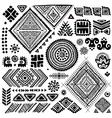 Tribal vintage ethnic pattern set vector image