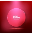 abstract background Circle red vector image vector image