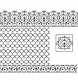 Seamless patterns set for wrought iron railing vector image