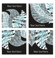 Set of modern posters with amazing feathers vector image