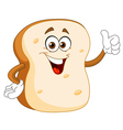 bread slice cartoon vector image vector image