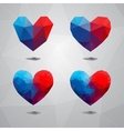 Geometric shapes hearttemplate for valentines day vector