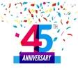 Anniversary design 45th icon anniversary vector image
