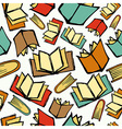 Back to School books pattern vector image