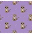 Brown cartoon cute cat background vector image