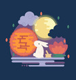 chinese mid autumn festival vector image