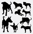 Dog pet animal silhouette 12 vector image