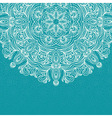 Elegant invitation with lace round ornament on vector image