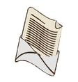 email envelope message letter sketch vector image