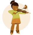 Little violinist vector image