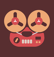 old tape recorder smooth vector image