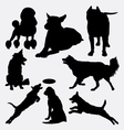 Dog pet animal silhouette 14 vector image