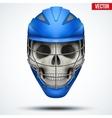 Human skull with Lacrosse Helmet vector image