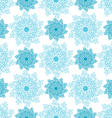 seamless pattern of blue snowflakes vector image vector image