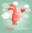 hilarious love monster vector image vector image