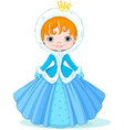 Little winter princess vector image vector image