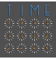 Clocks with transparent shadow vector image vector image
