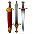 set of ancient weapon vector image vector image