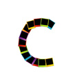 Alphabet C with colorful polaroids vector image