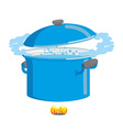 Boiling pot of water Cookware for cooking vector image
