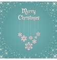 Christmas postcard with snowflakes garlands vector image
