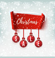 christmas sale banner with christmas tree vector image