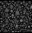 happy halloween doodle pattern vector image
