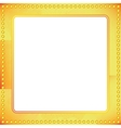 old riveted gold metal frame vector image