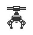 robotic claw machine icon vector image
