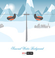 Seasonal winter background vector image