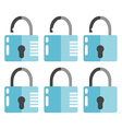 Set of Opened and Closed Locks vector image