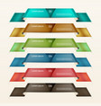 Set of ribbons modern infographics options banner vector image