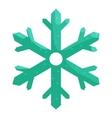 Snowflake icon cartoon style vector image