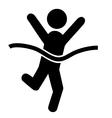 Success People Run Man Winner Flat Icons Pictogram vector image
