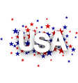 USA sign vector image