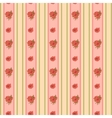 Vintage rose and stripes pattern for wallpaper vector image