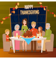 1608i029002Sm005c15big family sitting at the table vector image