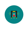 stylish icon in color circle people scanner vector image