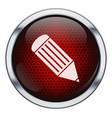 Red honeycomb pen icon vector image vector image