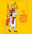 lord ganpati background for ganesh chaturthi vector image