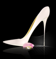 white shoe and ring vector image vector image