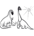 family dinosaur vector image vector image