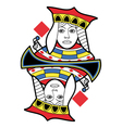 Stylized Queen of Diamonds no card vector image vector image