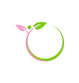 leaf beauty people abstract round logo vector image vector image