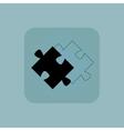 Pale blue puzzle place icon vector image