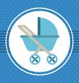 cart baby vector image