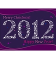 2012 greeting card vector image vector image