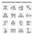 Robot manufacture vector image