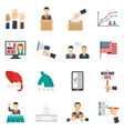 Election Color Icons vector image