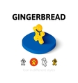 Gingerbread icon in different style vector image